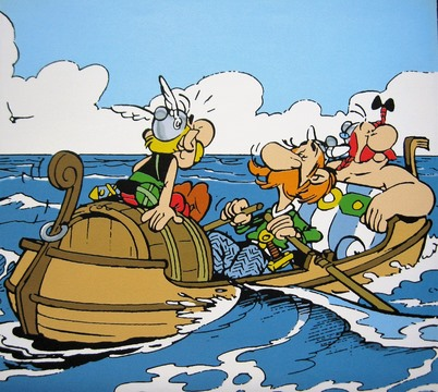 Asterix Larger Images Asterix And Obelix In A Boat