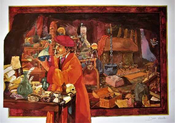 Signed art print of The Alchemist by Dan Woods