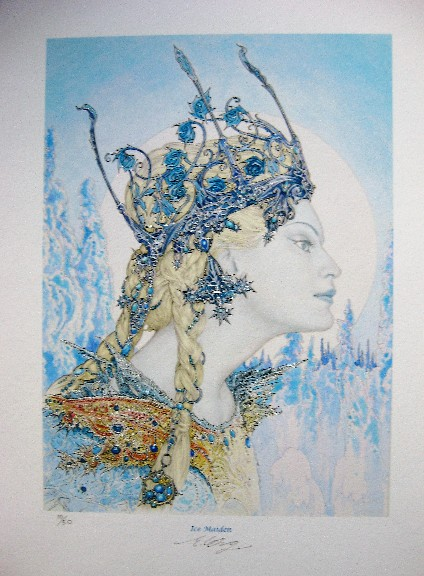 Ice Maiden Giclee by artist Ed Org