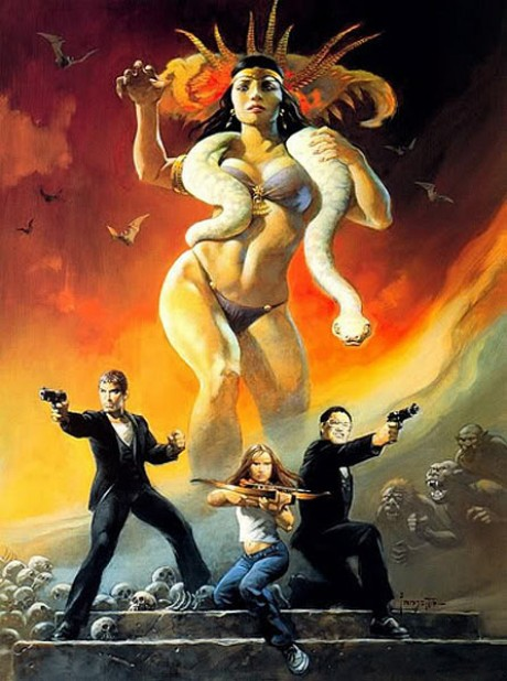 from dusk till dawn movie poster print by frank frazetta