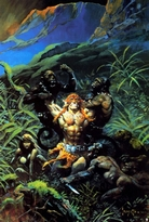 Jaguar God poster print by Frank Frazetta