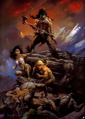 Fire & Ice poster print by Frank Frazetta