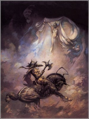 At The Earth S Core Poster Print By Frank Frazetta