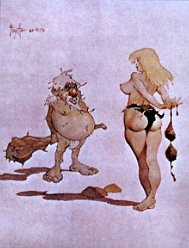 Eve poster print by Frank Frazetta