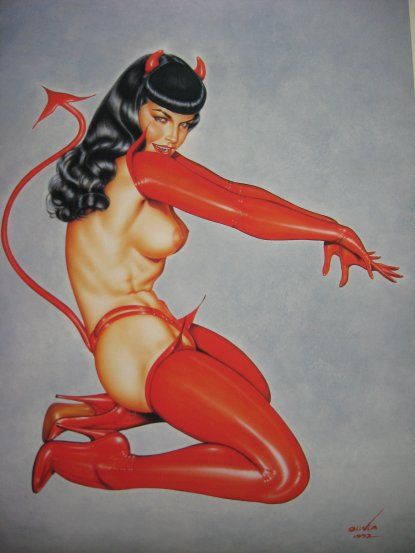 bettie page mermaid. HOT SAUCE (Betty Page) by