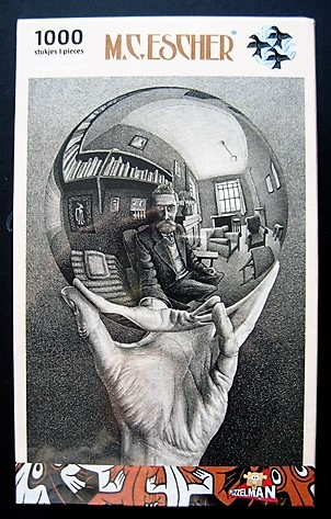 MC Escher Hand With Sphere Jigsaw Puzzle