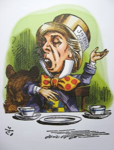 alice red queen tenniel mad hatter