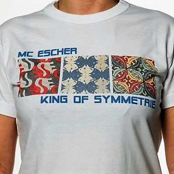 King of Symmetry Escher t-shirt for girls