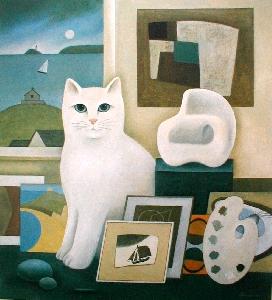 The Artist S Cat By Martin Leman