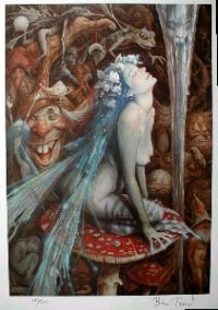 Caterpillar's Mushroom from Alice In Wonderland by Brian Froud