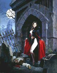 Midnight Snack exotic gothic fantasy by Clyde Caldwell
