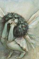 Signed Morning Fairy print by Brian Froud