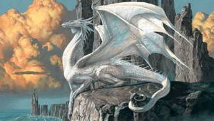 the white dragon hobsyllwin by ciruelo cabral